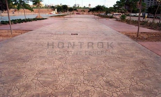 Piedra de jard n piedras hontrok hormig n impreso for Hormigon impreso sagunto